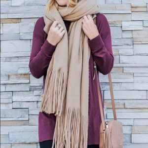 Free people camel scarf